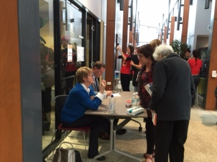 Signing books at the 2016 Big Sky Festival