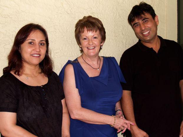 Farid and Fauzia Sufizada with Rosemary at the Perth Book Launch
