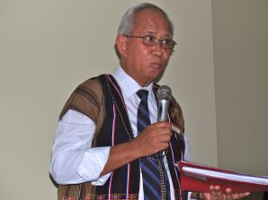 Paul Kyaw Making his Speech