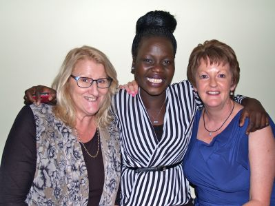Kristina Ward, Akec Makur Chuot and Rosemary