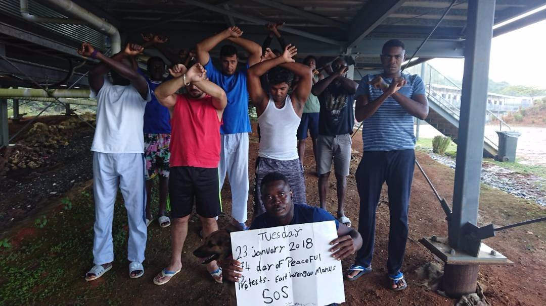 Manus protests