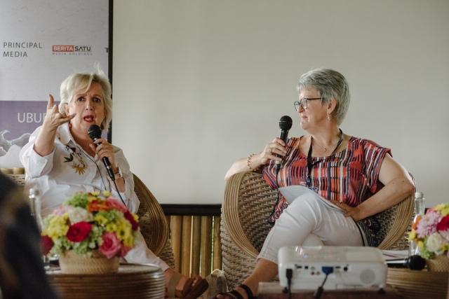 Ubud 2018 Rose and Jane Caro
